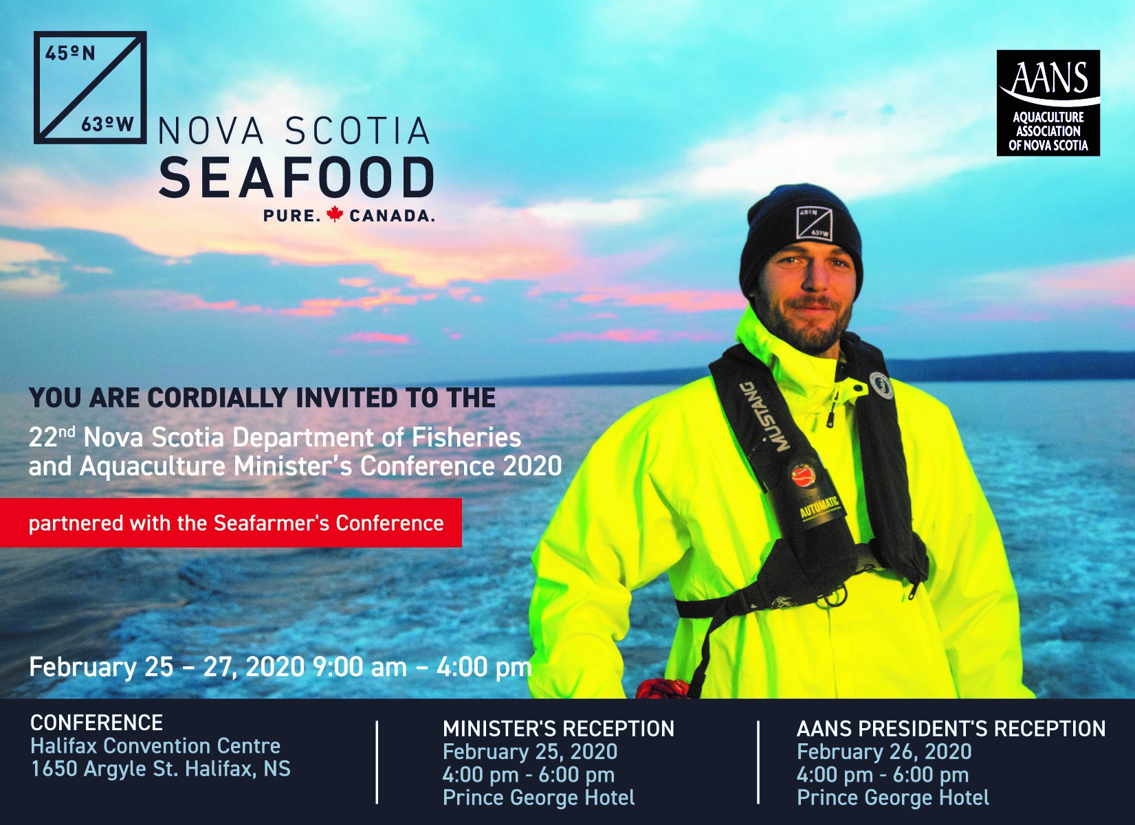 Fisheries and Aquaculture Minister Keith Colwell welcomes harvesters, processors and exporters to the Halifax Convention Centre, Feb. 25-27, to share knowledge and expertise, and hear from international speakers.