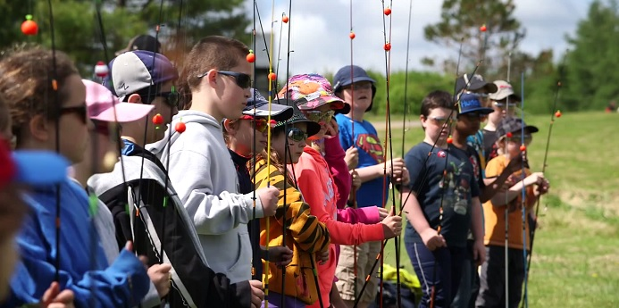 One of the department's most popular activities is the interactive Learn to Fish (L2F) program. Learn to Fish teaches children the basics of sportfishing, along with ethics and environmental stewardship.