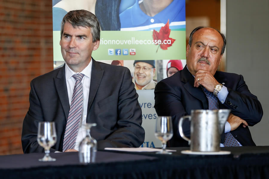 Premier Stephen McNeil and Wadih Fares at the announcement.