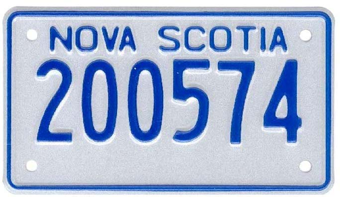 Depiction of Motorcycle Number Plate