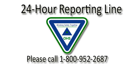 Have you witnessed something unsafe in a workplace? Tell us. Please call 1-800-952-2687 or email ohsdivision@gov.ns.ca, available 24/7.
