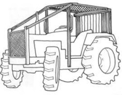 Upper protective structure over tractor without a cab