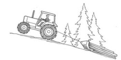 A tractor can back flip if the load gets stuck