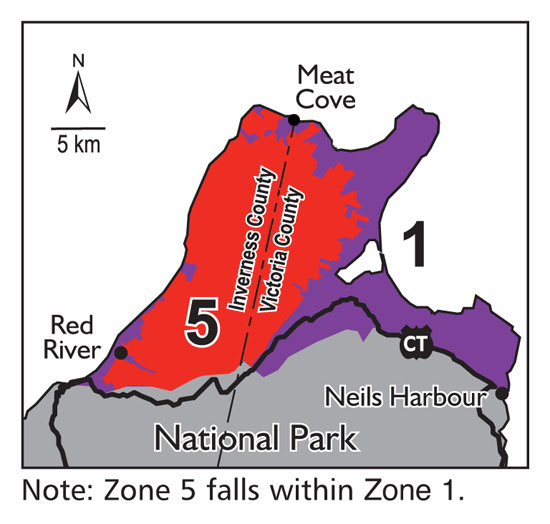 Moose Management Zones And Seasons Novascotia Ca