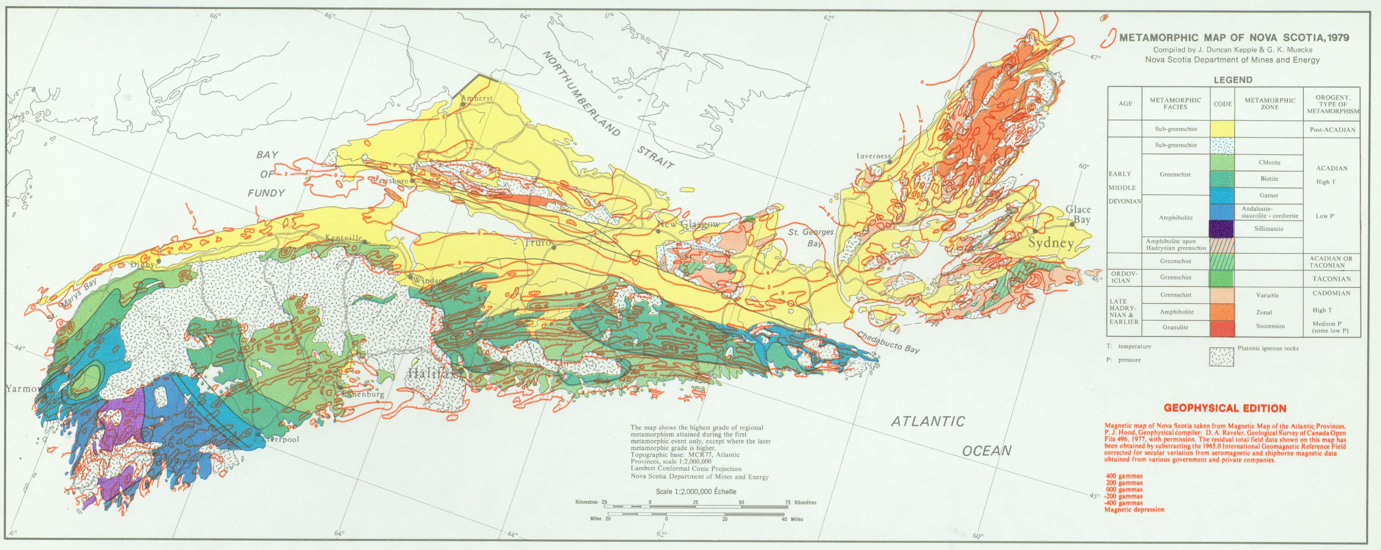 magnetic map of nova scotia