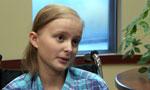 Olivia Mason talks about having leukemia.
