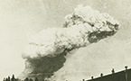 Smoke cloud from the Halifax Explosion, probably taken off McNabs Island 6 December 1917.