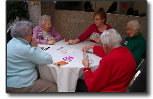 Group playing Bridge