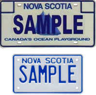 Personalized Passenger / Motorcycle Plate Samples