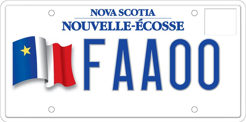 plaque d immatriculation portant le drapeau acadien acc s nouvelle cosse gouvernement de la. Black Bedroom Furniture Sets. Home Design Ideas