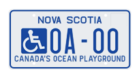 Accessible Parking Plates for Passenger or Light Commercial Vehicles
