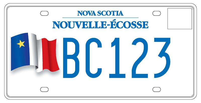 Vehicle Registration Ca >> Acadian Flag Licence Plate   Access Nova Scotia ...