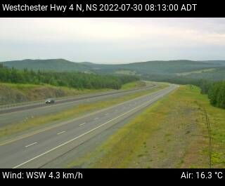 Westchester Cobequid Pass (Hwy 104) webcam